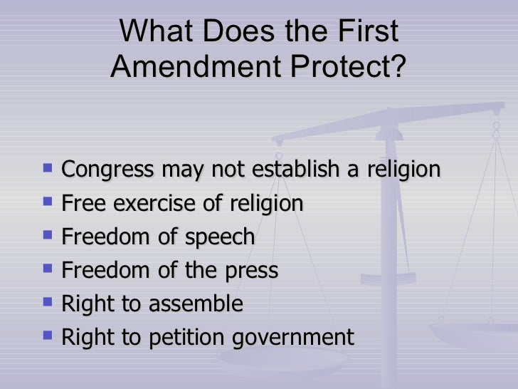 1st amendment essay The first amendment is one of the most important amendments in the bill of rights the forefathers felt that the bill of rights was needed in the constitution to assure the rights of the people and proceeded to add such protection in the first amendment.