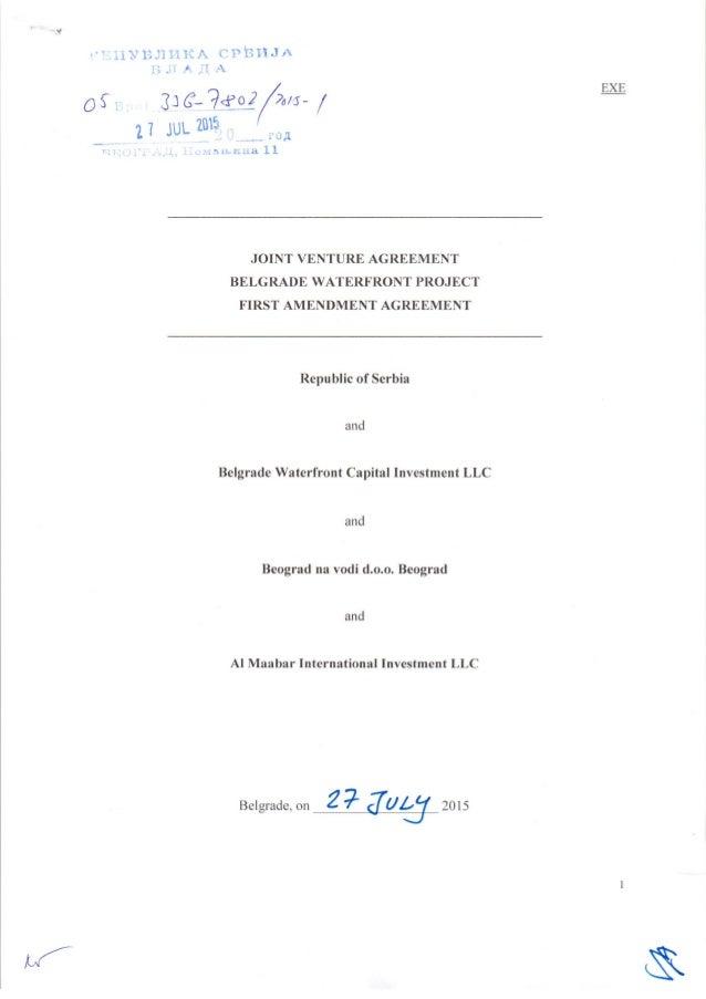 First amendment agreement_eng (anex, engleski)