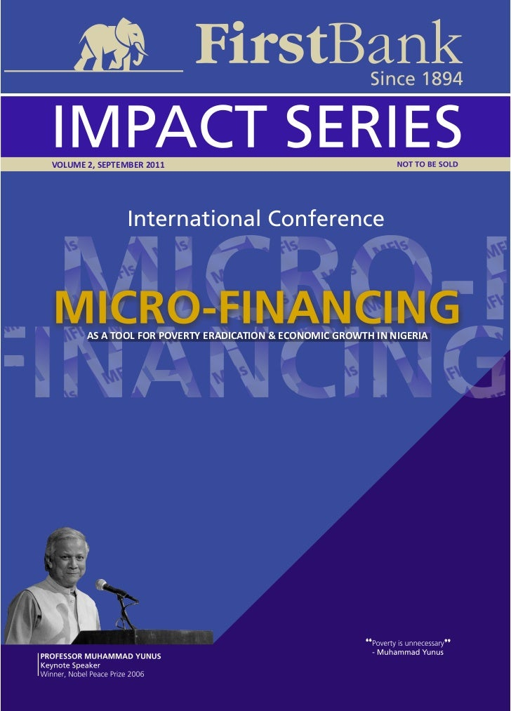 VOLUME 2, SEPTEMBER 2011       AS A TOOL FOR POVERTY ERADICATION & ECONOMIC GROWTH IN NIGERIA