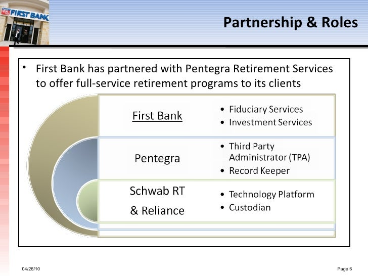 First Bank Retirement Plan Services