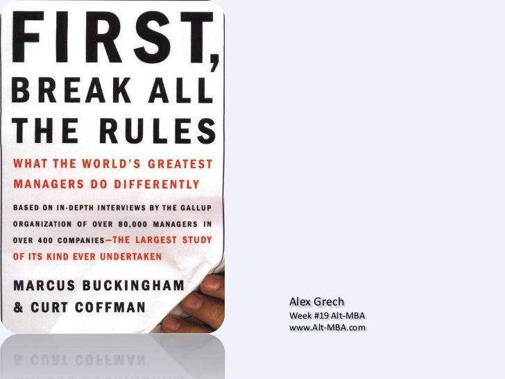 Alex Grech Week #19 Alt-MBA www.Alt-MBA.com