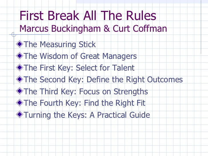 First Break All The Rules Managers Workshop Slide 2