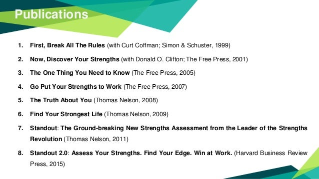 First break the rules: Book Review Slide 3