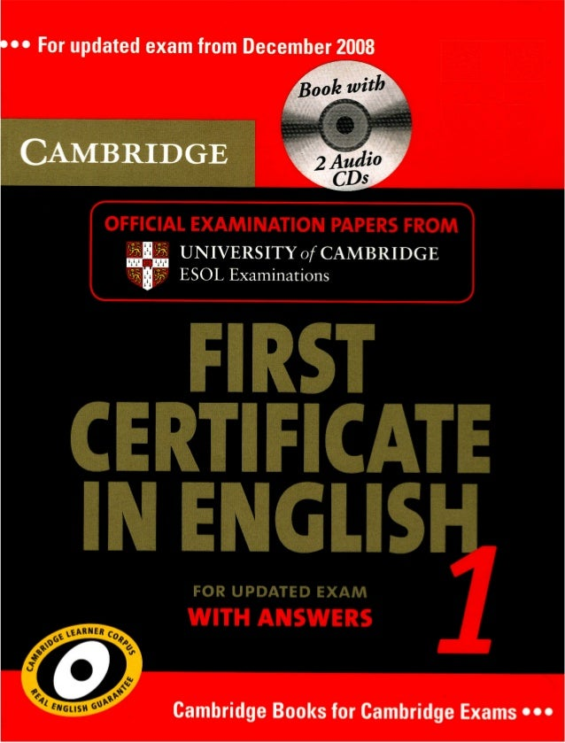 First Certificate In English 1 For Updated Exam With Answers Cambridge