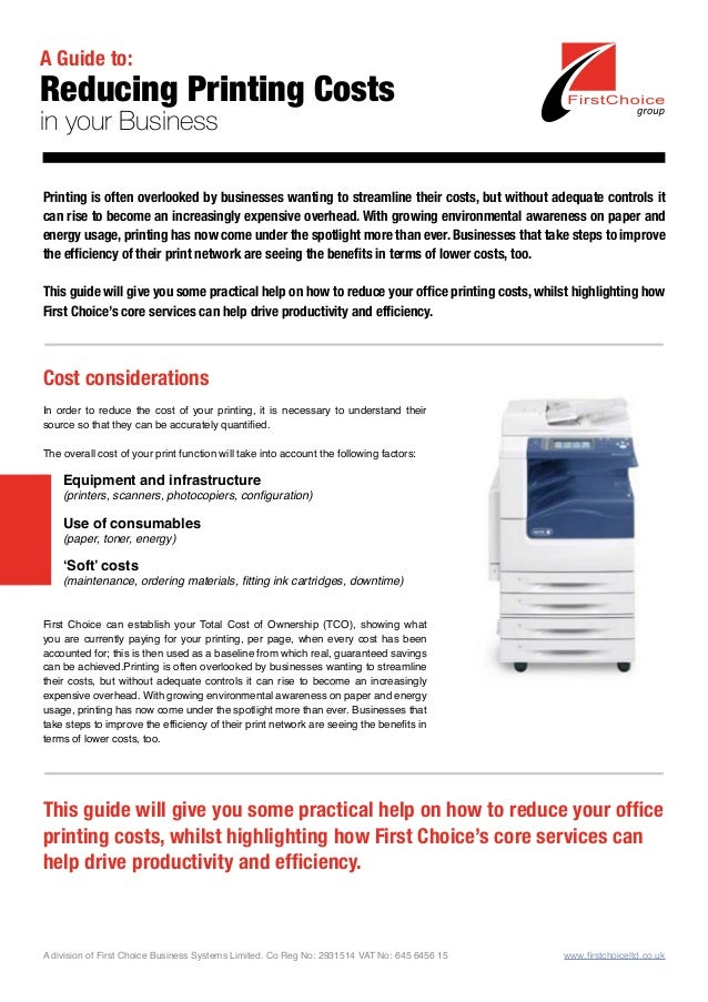 Reduce Printing Costs in your Business