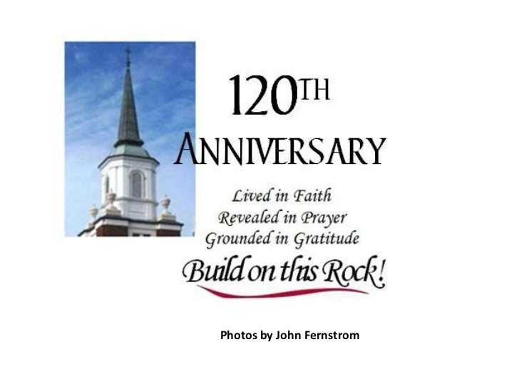 First Church 120th Anniversary Celebration Dinner
