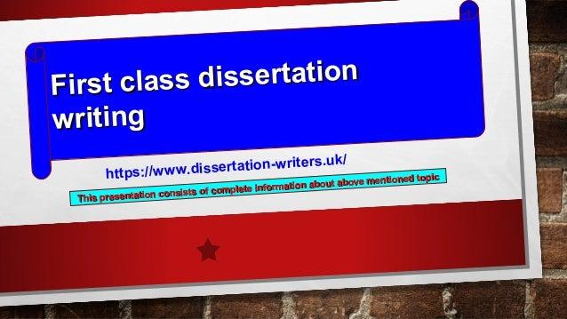 1st class dissertation