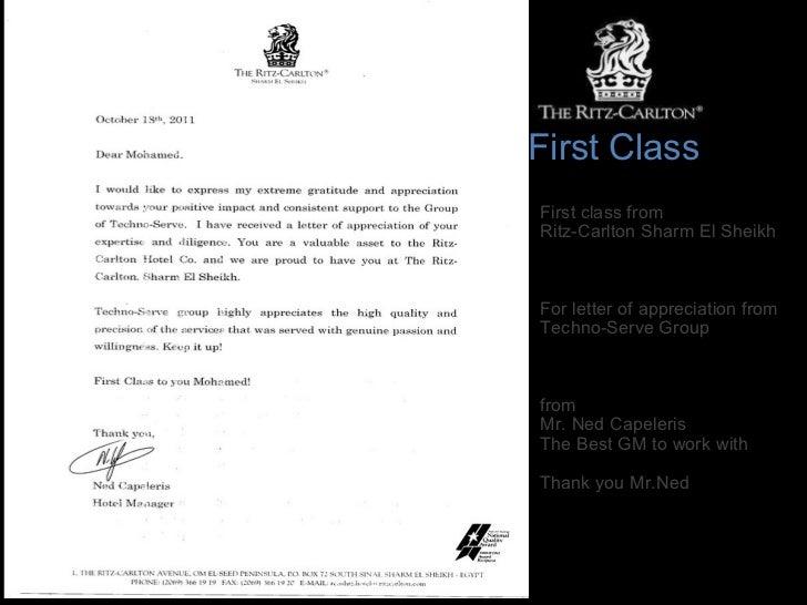First Class From Ritz Carlton