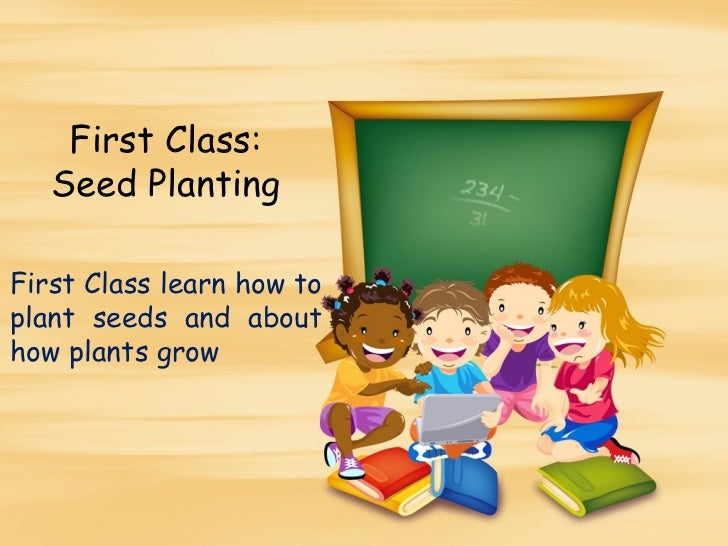 First Class:   Seed PlantingFirst Class learn how toplant seeds and abouthow plants grow