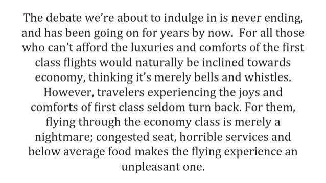 A Comprehensive Comparison Of First Class vs. Economy Class Slide 2