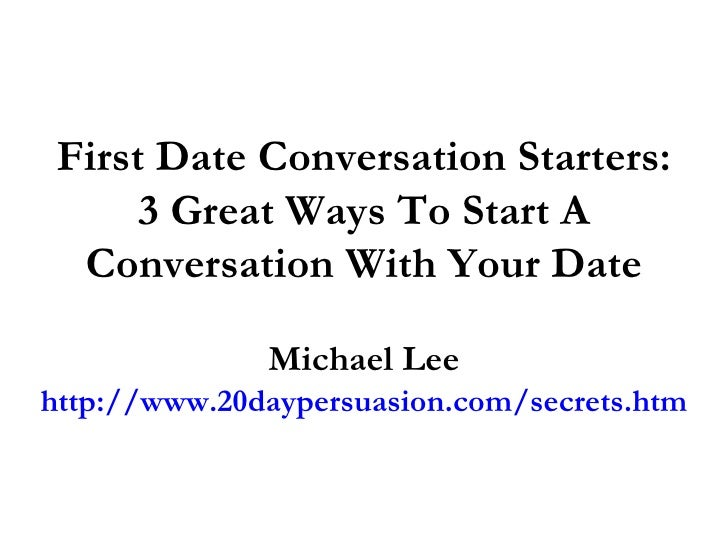 Best conversation starters for online dating
