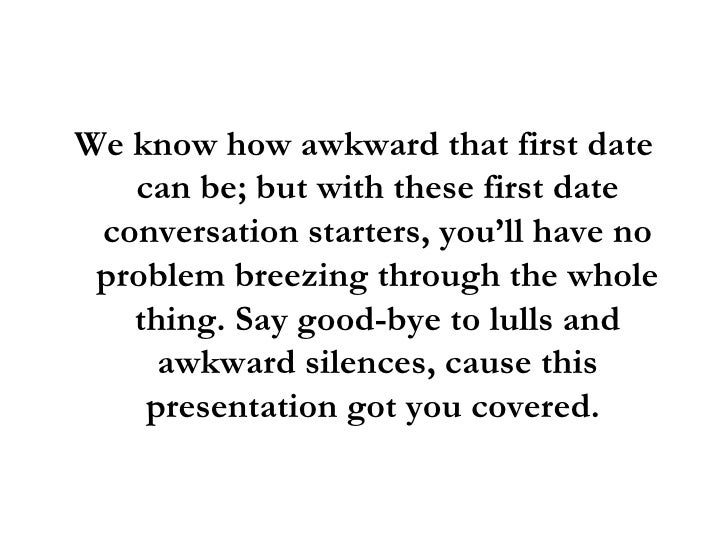 best first date conversation starters