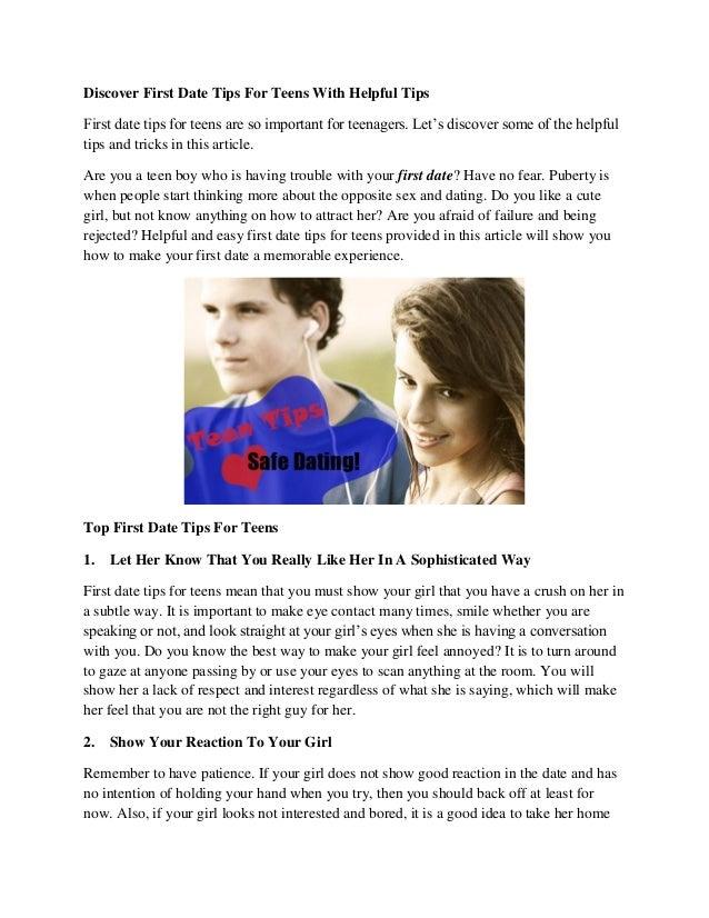Dating tips for teenage boys