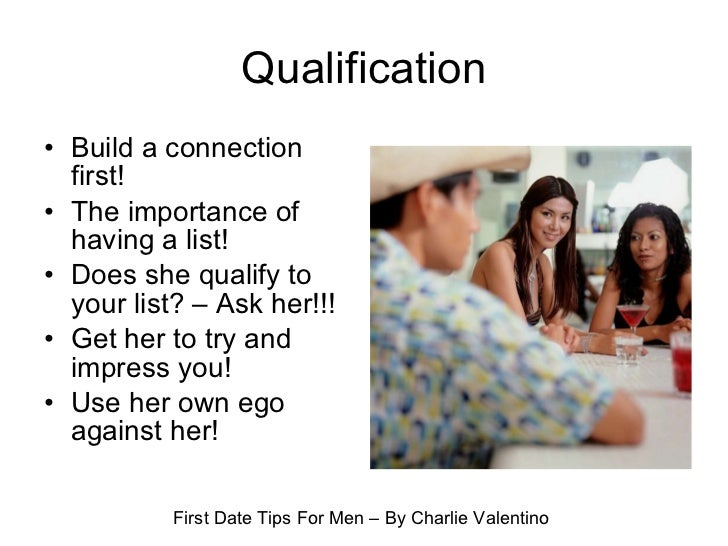 Men tips dating early on