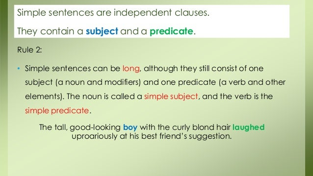 Sentence Types And Verb Tenses