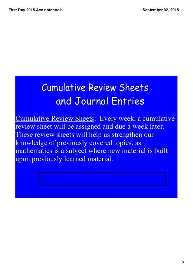 Math Prerequisite Reviews