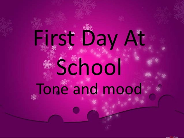 Poem - First day at school