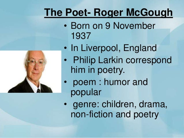 first day at school by roger mcgough literary devices