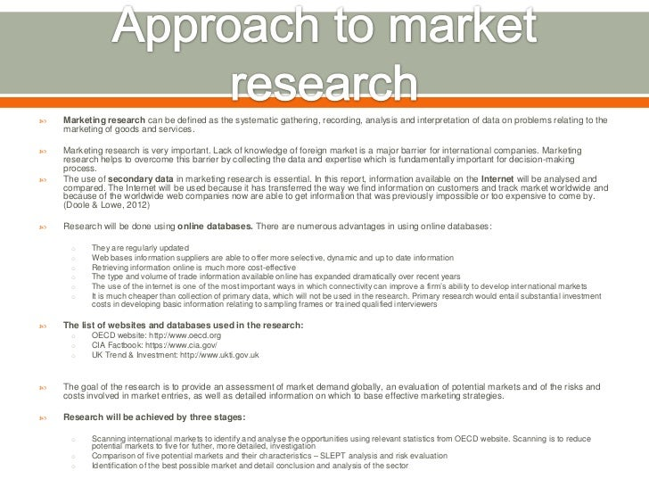 First Direct - market research