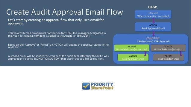 First Approval Flow - Microsoft Flow