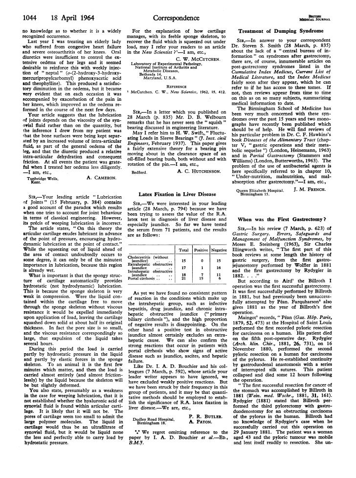 1044          18 April 1964                                    Correspondenceno knowledge as to whether it is a widely    ...