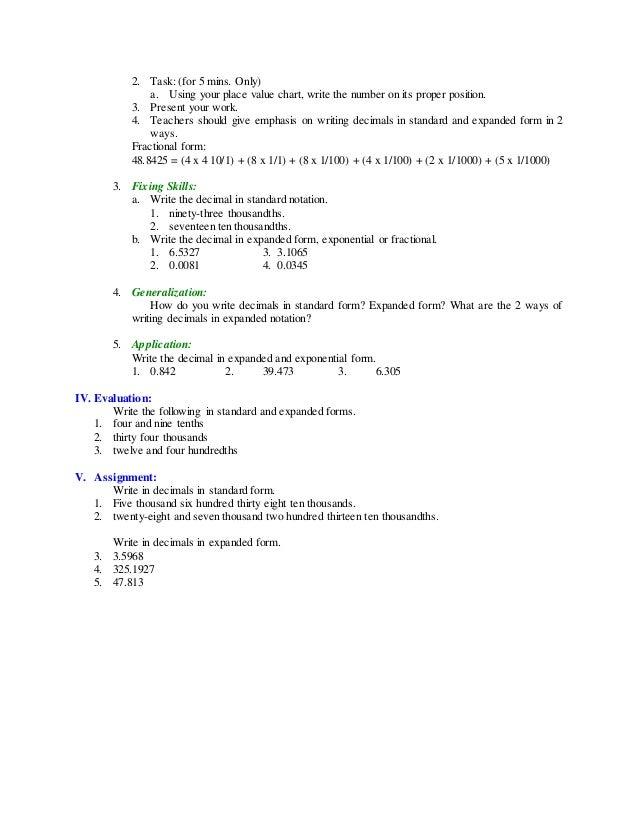 Five And Nine Tenths In Standard Form Pinephandshakeapp