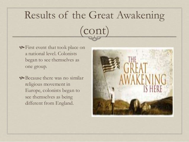 thesis statement for the great awakening
