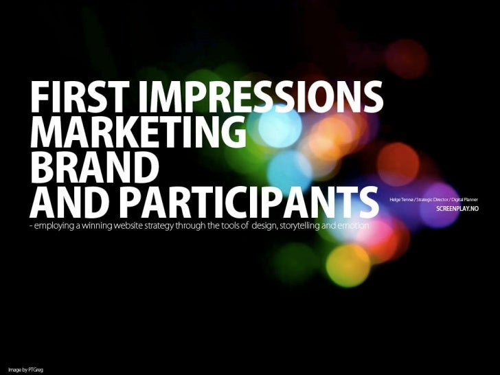 """first impressions marketing brand and participants """"""""itå«s easy. just skip the """"""""""""""""interface design"""""""""""""""" phase and make eve..."""