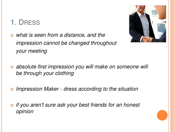 First impression is not always the best