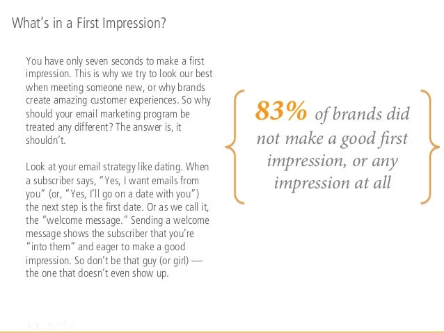 First Impressions Email Marketing Study Slide 2