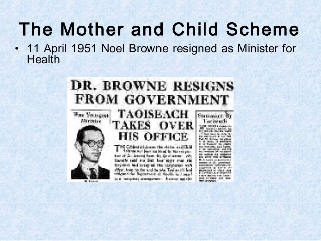 Image result for Noel Browne in 1950 mother and child images