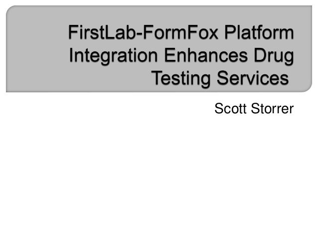 firstlab formfox platform integration enhances drug testing services