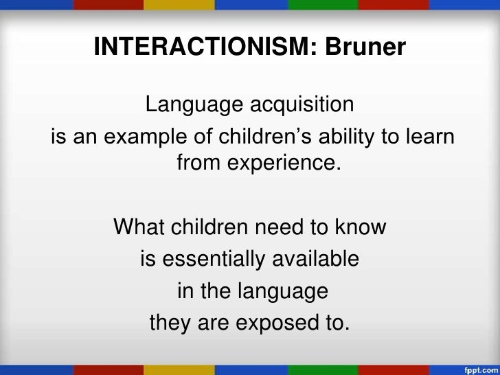 first language acquisition  interactionism
