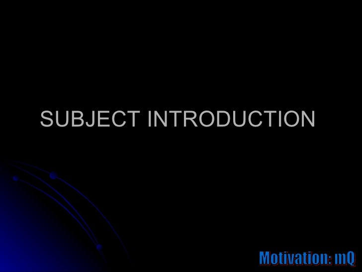 introduction to the concept of motivation Introduction motivation is an important tool that is often under-utilized by managers in today's workplace managers use motivation in the workplace to inspire people to work individually or in groups to produce the best results for business in the most efficient and effective manner.