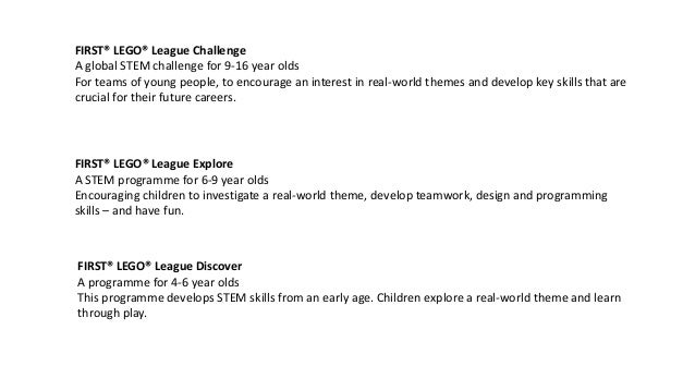 First Lego League - Dalmilling Primary Slide 2