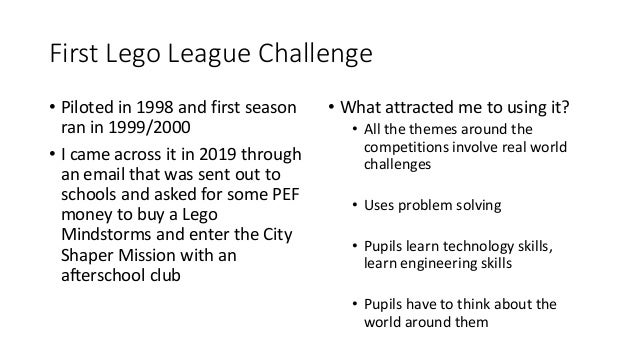 First Lego League - Dalmilling Primary Slide 3