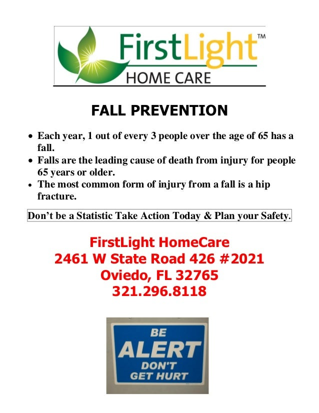 Amazing FirstLight HomeCare Fall Prevention. FALL PREVENTION Each Year, 1 Out Of  Every 3 People Over The Age Of ... Ideas