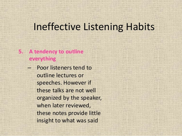 Examples on tv of ineffective listening