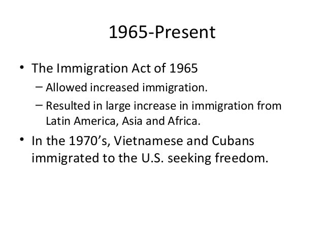 First Presentation Immigration And The United States