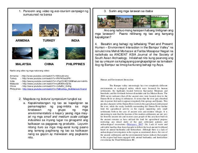 ecotourism in malaysia essay Faculty of forestry, upm to publish the papers presented during the workshop in this e-book the attention to develop and promote adventure and ecotourism in malaysia the two most prominent.