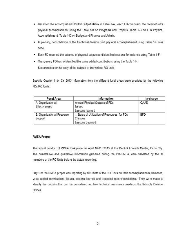 First Quarter of 2013 Regional Monitoring, Evaluation and Plan Adjustment (RMEPA)  Slide 3