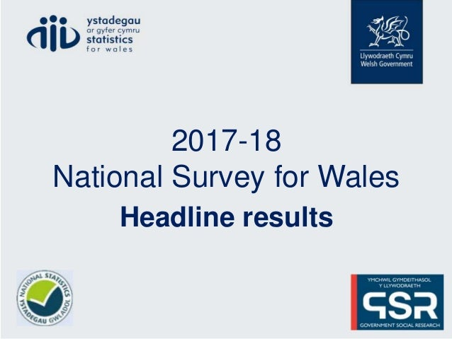 2017-18 National Survey for Wales Headline results