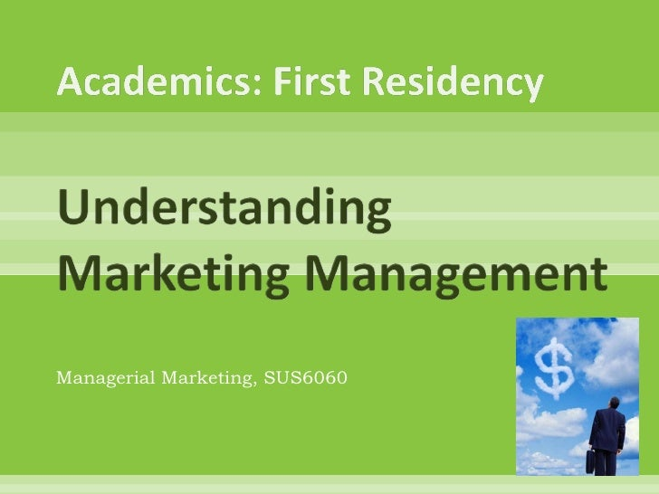 Managerial Marketing, SUS6060