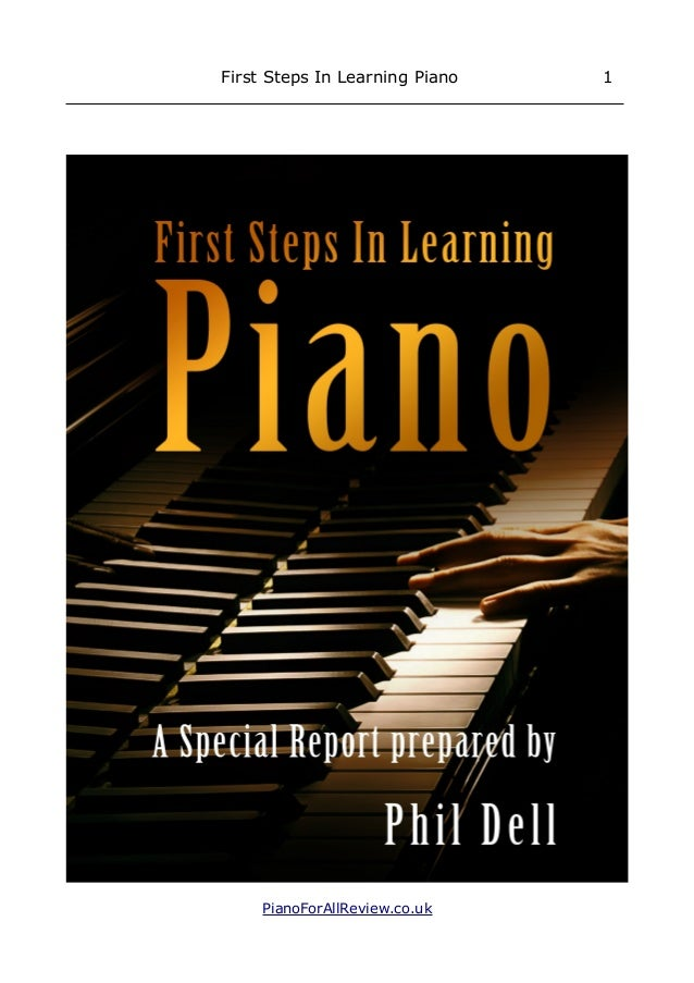 First Steps In Learning Piano 1 PianoForAllReview.co.uk
