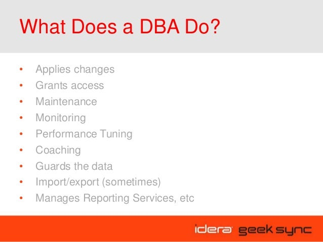 Geek Sync I First Steps to Becoming a DBA