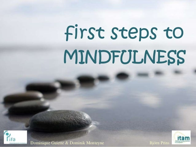 first steps to MINDFULNESS Dominique Guiette & Dominik Monteyne Björn Prins