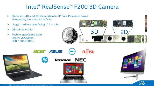 Intel RealSense 3D Camera (Front F200) Vista