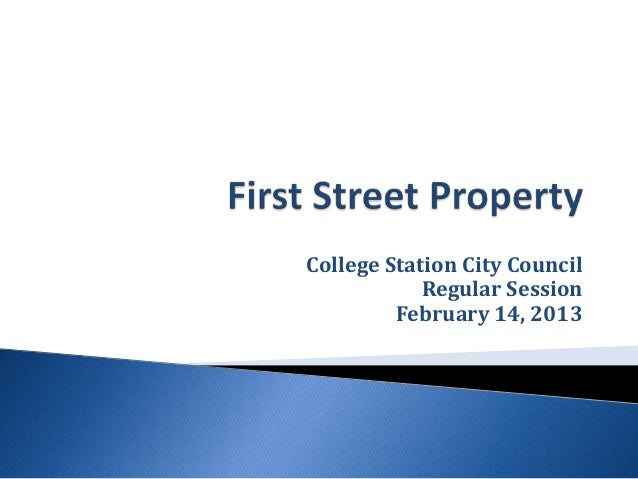 College Station City Council            Regular Session         February 14, 2013