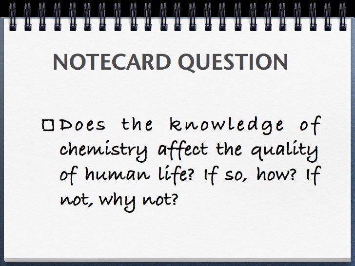 A	  Sustainable	  World	  through	                   Chemistry	  •  Notecard	  ques9on:	  In	  what	  ways	  is	  our	  wa...