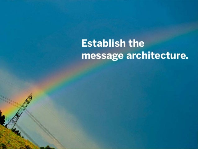 #csforum11 | @mbloomstein 32 © 2011 Establish the message architecture.